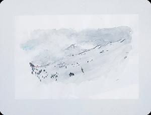 作品3 水彩画 雪原